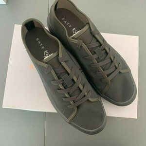 Katy Perry 9.5 M Shoes Glam Sneakers Black Shimmer